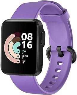 For Xiaomi Mi Watch Lite Strap Replacement Sport Soft Silicone Bracelet For Xiaomi Redmi Watch Smart Watch Band - Light Pu...