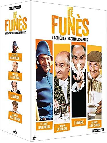 Louis de Funès-4 comédies incontournables : La Soupe aux Choux + L'Aile ou la Cuisse + L'Avare + Le Petit baigneur