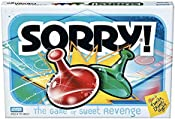 Sorry! Board Game for Kids Ages 6 and Up; Classic Hasbro Board Game; Each Player Gets 4 Pawns (Pawn Colors May Vary) –...