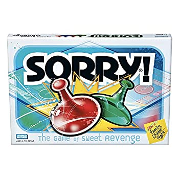Sorry! Board Game for Kids Ages 6 and Up  Classic Hasbro Board Game  Each Player Gets 4 Pawns  Pawn Colors May Vary  – Amazon Exclusive