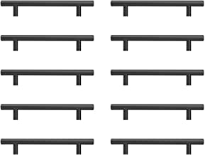 Sturdyy Zwarte Keuken Grepen Zwarte Keukenkast Grepen 10 Pcs 128mm Roestvrij Staal Spuitverf Zwart Gat Installatie 10 Pcs