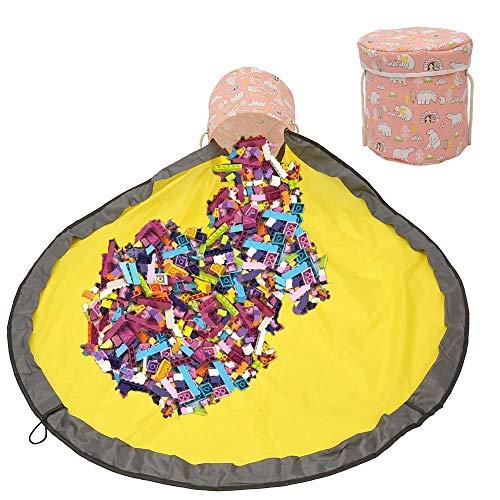 Estera de Almacenamiento de Juguetes,Kids Toys Organizer Storage,Kids Toys Organizer,Children Play mat,Bolsa Juguetes Almacenaje,Bolsa de Almacenamiento de Juguetes (Rosado)