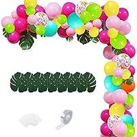 117-Pieces Hawaii Luau Party Tropical Balloons Garland Kit