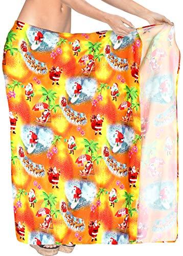 albero di natale jingle bells HAPPY BAY più Costumi da Bagno Dimensioni up Copertura per Le Donne Sarong Pareo Natale Babbo Natale Jingle Bells Albero di Natale Rosso_X522 78 X42