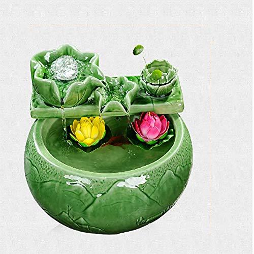 WASDOP Indoor Water Fontein, Tafelblad Fontein voor Office En Home Décor door Pure Garden Feng Shui Sieraden, Waterpomp Vernevelaar (36 * 23Cm)