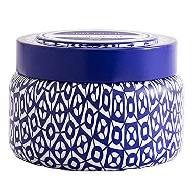 Aspen Bay Capri Blue Volcano Printed Travel Tin Candle, 8.5 Ounce