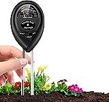 MiKoSoRu Soil pH Meter, 3-in-1 Soil Moisture Meter Light and PH Tester, Soil Test Kit for Garden, Farm, Lawn, Indoor & Outdoor