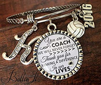 Coach gifts volleyball coach soccer coach basketball coach Cheer Coach Jewelry coach quote inspirational jewelry motivational softball coach charm bracelet 2020 charm thank you gift