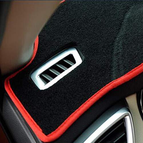 QWLHZW Dashboard de Coches Dash Mat Dash Board Pad Carpet Dashmat Anti-UV para Mitsubishi ASX RVR Outlander Sport 2011-2017 2018 Accesorios de Coche (Color : Red)