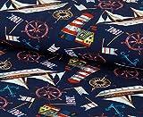 Nadeltraum Baumwoll - Jersey Stoff im maritimen Look mit