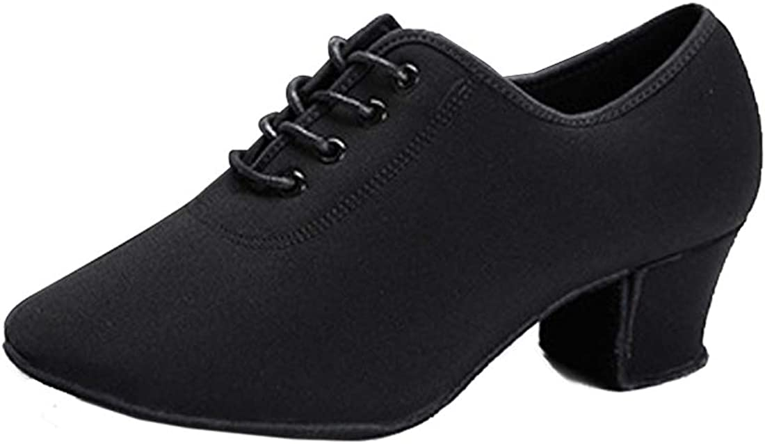 Inlefen Women's Latin Dance Shoes Soft women Modern Dance Shoer (5CM Heel)