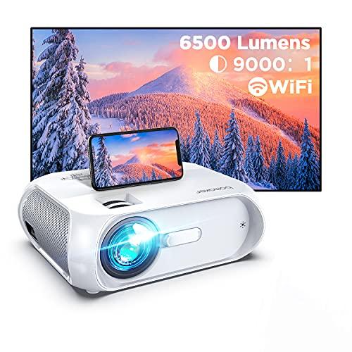 BOMAKER Proiettore Wifi, Videoproiettore Portatile, Luinosità 6500, Supporta Full HD 1080p HDMI AV USB VGA AUX, Compatibile Android iOS Windows Mac, Ideale per Home Cinema e Film all Aperto