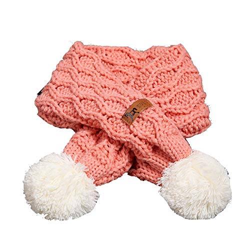 Buy and buy at Brandon Baby Scarf Winter Boy Baby Girl Soft Warm Wool Scarf Children's Wild Ball ScarfPale PinkA