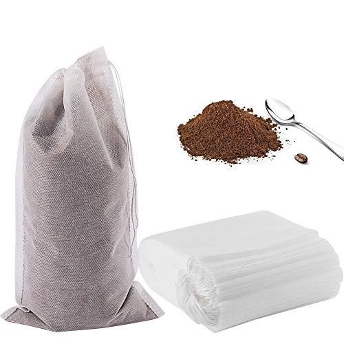 50 Kaffeefilterbeutel für kalt gebrühte Kaffee, 15,2 x 25,4 cm, kein Schmutz, Kaffeefilter, Einweg-Netz, Teefilterbeutel für kaltgebrühten Kaffee oder Tee