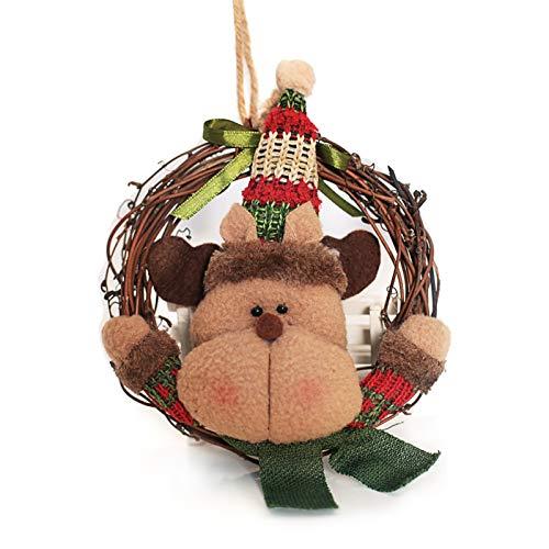 Eastdall Decoração De Casa,Enfeites de Natal Decoração da árvore de Natal Enfeites pendurados de Natal Elk Enfeites pendurados Decoração da casa