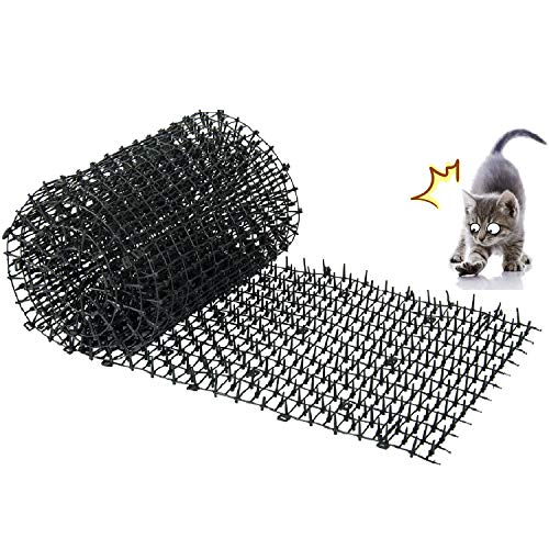 MOSTAR Cat Scat Mat (6.5 ft) Anti-Cat and Pest Plastic Prickle Strip Network Digging Stopper Keep Cat/Dog Away 78'' 11''