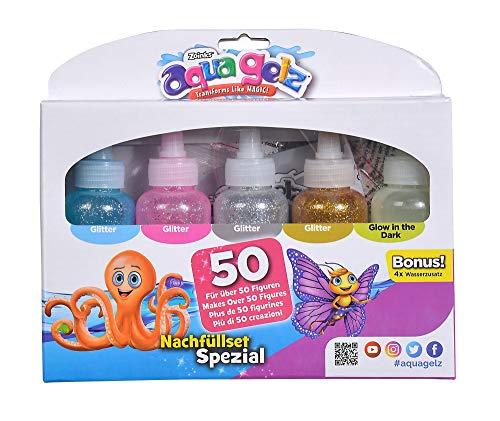 Simba 106322455 Aqua Gelz Nachfüllset Spezial, Soft Figuren in 3D gestalten, Farbgel in Formen tauchen, ab 8 Jahren