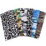 MoonyLI - Tela con estampado de leopardo, 100% algodón, tela para costura de camuflaje de leopardo, juego de residuos de tela acolchada Fai-da-Te para manualidades patchwork 48 x 48 cm