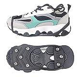 C/H 8 dientes antideslizante nieve hielo termo plástico elastómero escalada zapatos cubre picos tacos sobre zapatos cubre crampones para hombres y mujeres