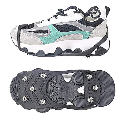 C/H 8 dientes antideslizante nieve hielo termo plástico elastómero escalada zapatos cubre...