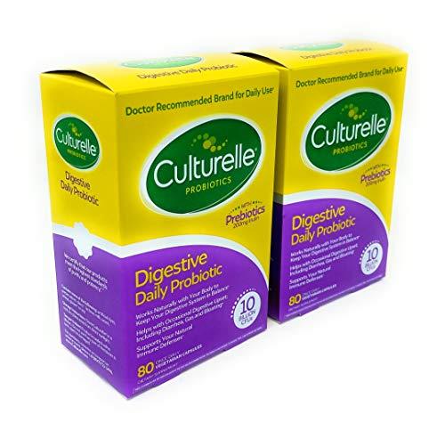 Culturelle, Digestive Health Probiotic lstli 80 Capsules (Pack of 2)