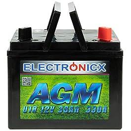 AGM U1R 30 Ah 330 A Batterie Tracteur de pelouse Tondeuse à Gazon autoportée pour Moto, démarreur 12 V