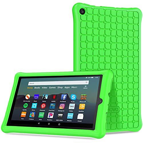 TiMOVO Funda Compatible con All-New Fire 7 Tablet (9th generación - 2019 Release), Silicona Suave Cover Case Ligera Cubierta y Anti-Choque Protector para Amazon Fire 7 - Verde