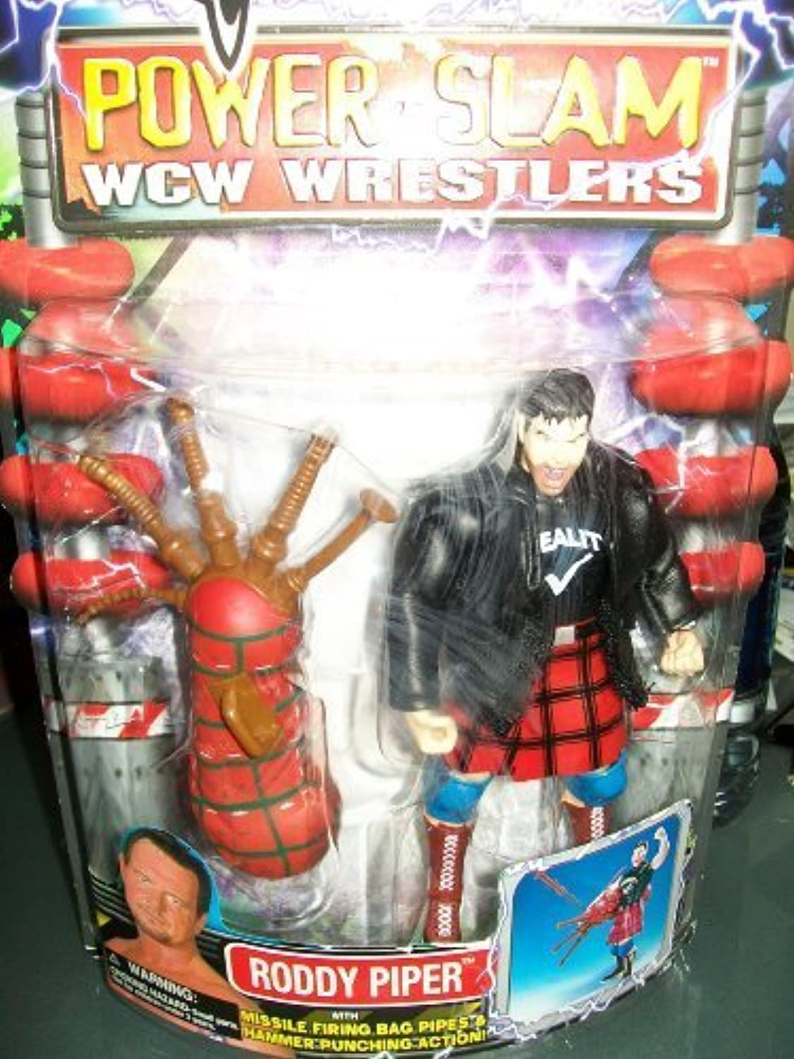 WCW Power Slam Wrestlers Roddy Piper distributed by Toy Biz 2000 by Toybiz