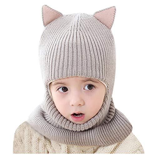 Susenstone Bonnet Bebe Fille Hiver Chaud Oreille ÉPais 2-5 Ans Tricot Crochet Chapeau Fille Garcon Enfant Doublure Polaire Cartoon Mignon Pas Cher Bonnet Fille Et Snood