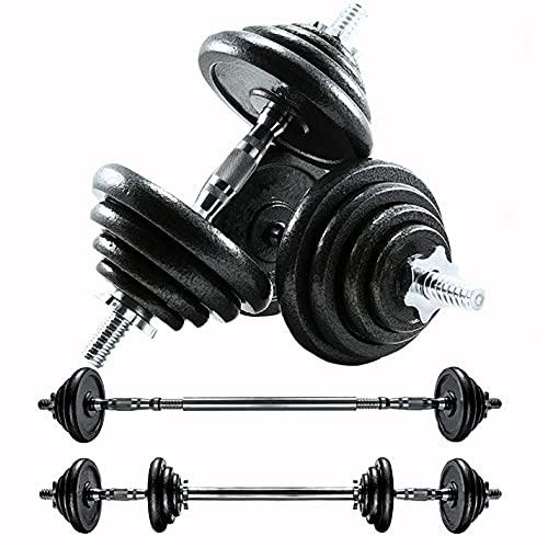 CANMALCHI Juego de pesas ajustables para hombre y mujer, 20 kg, color negro