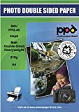 PPD Inkjet - A4 x 20 Hojas de Papel Fotográfico de Doble Cara Mate 210 g/m² -...