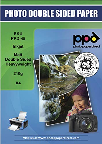Papel Fotografico A4 Hp Mate Marca PPD