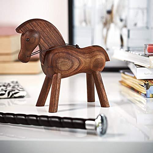 Hancoc Massivholz Geschnitzte Pony Dekoration Wohnzimmer Studie Café Dekoration Holz Handwerk Geschenk Kinderspielzeug
