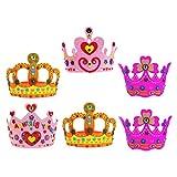6Pcs Kids Crown EVA Hair Hoops Diadema colorida Niños Hair Band Etapa Head Hood Niños Headwrap Color aleatorio