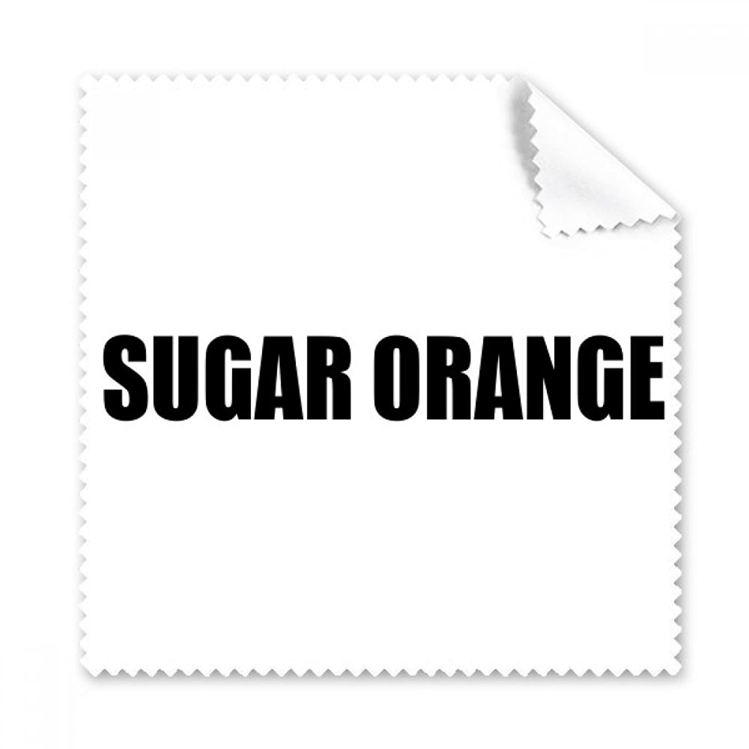 Sugar Orange Fruit Name Foods Glasses Cloth Cleaning Cloth Phone Screen Cleaner 5pcs Gift