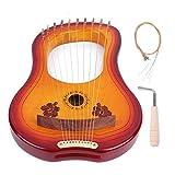 Harpe 10 cordes en bois d'érable canadien avec marteau de réglage pour débutants Instrument de musique GK - 10MC Cadeaux pour...
