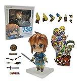 Zelda Figures Figura Link 733-DX Breath of The Wild Ver DX Edition Figura de acción de PVC modelo coleccionable juguetes regalo muñeca