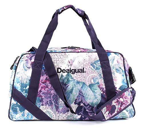 Desigual Art and Thread Carry Shoulder Bag Magenta Haze