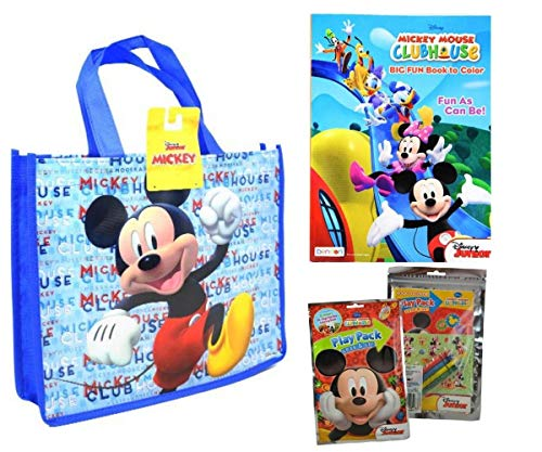 Mickey Mouse Activity Tote Filled with Coloring Books, Stickers, & Crayons