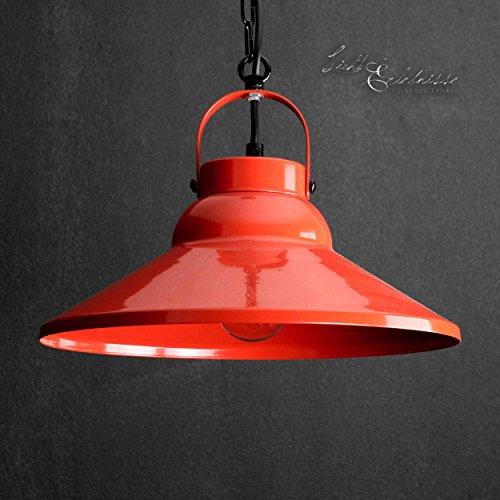 Dekorative Hängeleuchte in Rot Industrie Design 1x E27 bis zu 60 Watt 230V aus Metall, für Küche Esszimmer Pendelleuchte Hängelampe Pendellampe innen Beleuchtung