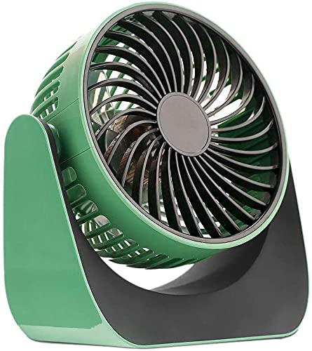 WYBW USB Fan, Portable Desk Fan Three Speed Rotating 180 Degree USB Fan Desktop Air Cooling Rechargeable for Office Home