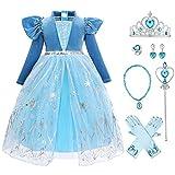 Princess Vestito Carnevale Bambina Abito Costume di Cosplay Party Halloween Costume Abito ...