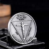 HEQING Luzifer Morgenstern Satanische Pfingstmünze In Gott Vertrauen wir Vater Sohn Heiliger Geist Schlange Drache Gedenkgeschenkmünzen s
