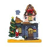 Scena di Natale Case del Villaggio con Luce A LED, Villaggio di Neve Illuminato in Resina Squisita, Decorazioni Natalizie con Decorazioni Natalizie A Batteria