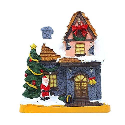 anne210 Pueblos Navideños Pueblo Navideño Iluminado Casas De Pueblo De Navidad Adornos Navideños para Casa & Shop Scene Set con Luces Led Decoraciones Navideñas