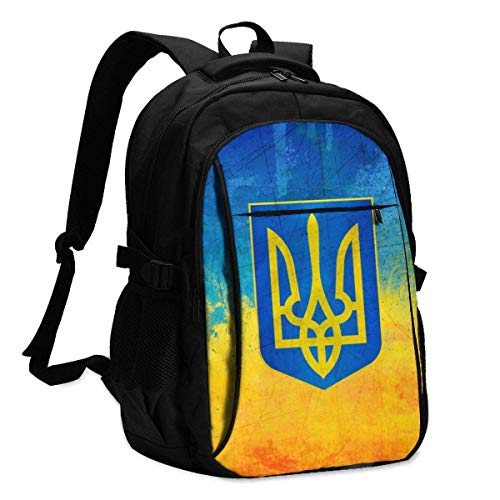 XCNGG Bandera de Pintura ucraniana Mochila para computadora portátil de Viaje Mochila Escolar universitaria Mochila Informal con Puerto de Carga USB