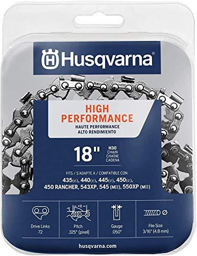 Husqvarna 531300439 18-Inch H30-72 (95VP) Pixel Saw Chain.325-Inch by .050-Inch (Black (4-Bundle))