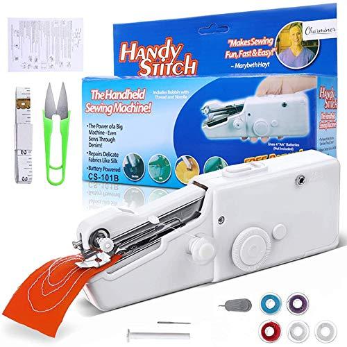 Charminer-Mini portátil máquina de coser, mini máquina de