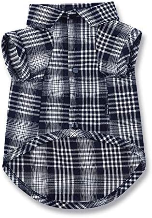 CtilFelix Dog Shirt Plaid for Small Dogs Cats Puppy Boy Girl Dog Clothes Soft Pet Polo T Shirt product image