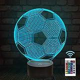 3d lampara de la noche fútbol Iluminación visual Ilusión